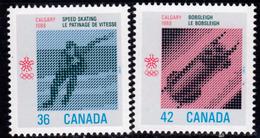 Canada 1986 Winter Olympic Games, Calgary Set Of 2, MNH, SG 1236/7 - 1952-.... Reign Of Elizabeth II