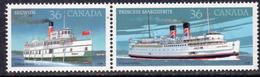 Canada 1987 Canadian Steamships Pair, MNH, SG 1245/6 - 1952-.... Reign Of Elizabeth II