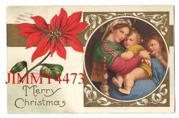 POST CARD Gaufrée - Merry Christmas - Canada - Noël