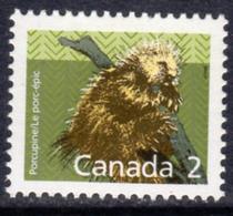 Canada 1988-93 Mammals Definitives 2c Porcupine Value, MNH, SG 1262 - 1952-.... Reign Of Elizabeth II