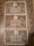 LOT De 3 Billets 100 Francs Merson - 1871-1952 Antiguos Francos Circulantes En El XX Siglo