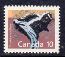 Canada 1988-93 Mammals Definitives 10c Striped Skunk Value, MNH, SG 1266 - 1952-.... Reign Of Elizabeth II