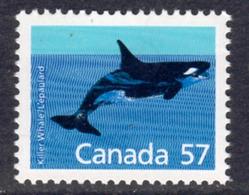 Canada 1988-93 Mammals Definitives 57c Killer Whale Value, MNH, SG 1271 - 1952-.... Reign Of Elizabeth II