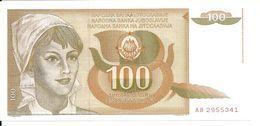 YOUGOSLAVIE 100 DINARA 1990 UNC P 105 - Yougoslavie