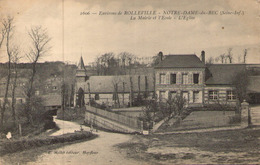 76 - Environs De Rolleville - NOTRE-DAME-du-BEC - La Mairie Et L'Ecole - L'Eglise - Other Municipalities
