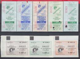 247922 / Lot Of 8 Pieces -  BUS , TRAM , Trolleybus , SOFIA , Ticket Billet , Bulgaria Bulgarie Bulgarien Bulgarije - Tramways