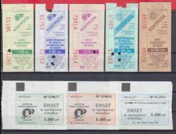 247923 / Lot Of 8 Pieces -  BUS , TRAM , Trolleybus , SOFIA , Ticket Billet , Bulgaria Bulgarie Bulgarien Bulgarije - Strassenbahnen