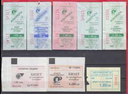 247927 / Lot Of 8 Pieces -  BUS , TRAM , Trolleybus , SOFIA , Ticket Billet , Bulgaria Bulgarie Bulgarien Bulgarije - Strassenbahnen