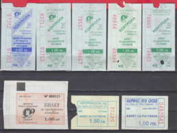 247928 / Lot Of 8 Pieces -  BUS , TRAM , Trolleybus , SOFIA , Ticket Billet , Bulgaria Bulgarie Bulgarien Bulgarije - Strassenbahnen