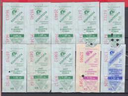 247937 / Lot Of 10 Pieces -  BUS , TRAM , Trolleybus , SOFIA , Ticket Billet , Bulgaria Bulgarie Bulgarien Bulgarije - Strassenbahnen