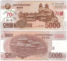 Korea North - 5000 Won 2019 UNC 70 Years Diplomatics PRC And DPRK Comm. Lemberg-Zp - Korea, North