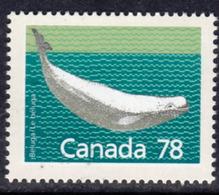 Canada 1988-93 Mammals Definitives 78c White Whale Value, MNH, SG 1276 - 1952-.... Reign Of Elizabeth II