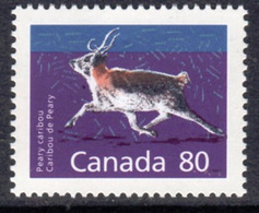 Canada 1988-93 Mammals Definitives 80c Peary Caribou Value, MNH, SG 1276c - 1952-.... Reign Of Elizabeth II