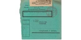 Allemagne  - Colis Postal De Friedrichsdorf - Milupa Fabrik  --  04/2/1943  -  Pour Sengbusch - Alemania