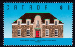 Canada 1988-93 Architecture Definitives $1 Runnymede Library, Toronto Value, MNH, SG 1277 - 1952-.... Reign Of Elizabeth II