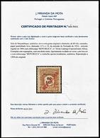 !■■■■■ds■■ Mozambique Postage Due 1916 AF#26(*) Local Ovrprt 60 Réis CERTIFIED (x8696) - Mozambique