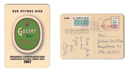 Sous-bock Bière Unique AUSTRIA Brauerei Gösser Timbre 1997 Beer Mat Coaster Bierdeckel - Sous-bocks