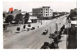 02746-LE-MAROC-MARRAKECH-Avenue Mangin-----------animée-voitures-attelages - Marrakech