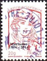 Oblitération Cachet à Date Sur Timbre Sur Marianne De La Jeunesse N° 4767_bc - Prio Rouge, 20g. Typographie Surchargé - 2013-... Marianne Of Ciappa-Kawena