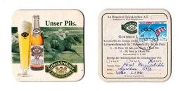 Sous-bock Bière Unique AUSTRIA Brauerei Grieskirchen Timbre 1989 Beer Mat Coaster Bierdeckel - Sous-bocks