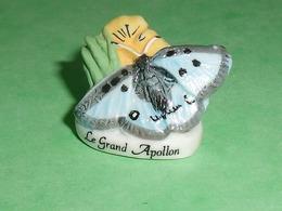 """Fèves / Animaux : Papillon , Le Grand Apollon """" Mat Et Brillant """"   T94 - Animals"""