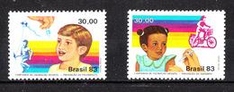 Brasile   -  1983.  Vaccino Contro Poliomielite E Rosolia. Vaccine Against Poliomyelitis And Rubella. MNH - Malattie