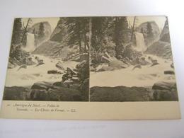 C.P.A.- Stéréo - Amérique Du Nord - Etats Unis - Yosemite - La Vallée - Les Chutes De Vernal - 1903 - SUP (CP 19 ) - Yosemite