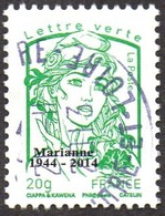 Oblitération Cachet à Date Sur Timbre De France N° 4774_bc - Marianne De La Jeunesse. Vert 20g. Typographie Surchargé - France