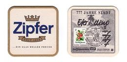 Sous-bock Bière Unique AUSTRIA Brauerei Zipfer  Timbre 1999 Beer Mat Coaster Bierdeckel - Sous-bocks