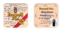 Sous-bock Bière Unique BrauereiErzquell, Timbre 1979 Beer Mat Bierdeckel Coaster - Sous-bocks