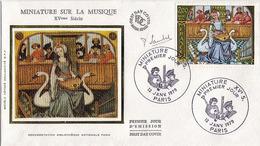 FDC 1er Jour : Miniature XVè  13/01/1979 N° 2033  Signé Pierrette LAMBERT - FDC
