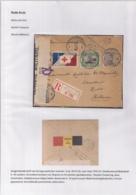 AANGETEKENDE BRIEFOMSLAG LEGERPOSTERIJ 6-28.VII.16 NAAR HULST-TRICOLORE FRANKERING-DUBBELCENSUUR -PATRIOTTISCHE STROOK - Autres Lettres