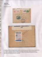AANGETEKENDE BRIEFOMSLAG LEGERPOSTERIJ 6-18.IX.1916 NAAR HULST-TRICOLORE FRANKERING-DUBBELCENSUUR -PATRIOTTISCHE STROOK - Autres Lettres
