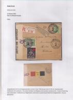 AANGETEKENDE BRIEFOMSLAG LEGERPOSTERIJ 6 OP 7.VIII.16 NAAR HULST-DUBBELCENSUUR BELGIE NEDERLAND-TRICOLORE FRANKERING - Guerre 14-18