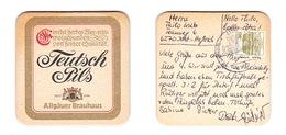 Sous-bock Bière Unique Allgauer Brauhaus Timbre 1985 Beer Mat Bierdeckel Coaster - Sous-bocks
