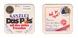 Sous-bock Bière Unique Brauerei Wülfel, Timbre 1981 Beer Mat Bierdeckel Coaster - Sous-bocks