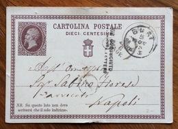 """CARTOLINA POSTALE  N. 1 CON """" SCONOSCIUTO AI PORTALETTERE """" DA BARI 5 NOV 75 A NAPOLI - 1900-44 Vittorio Emanuele III"""
