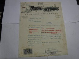 CASALE MONFERRATO  --ALESSANDRIA  --- AUTO  - MOTO - BICICLETTE - CARROZZE  -- ECC. ---   FRATELLI GRIGNOLIO -- AUTO - Italia