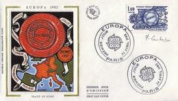 FDC 1er Jour : Europa 22/04/1982 24/04/1982 N°2207 Signé Pierrette LAMBERT - FDC