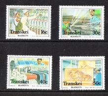 Transkei  - 1988.Tessitura: Raccolta Cotone,lavorazione, Prodotti. Weaving: Cotton Collection, Processing, Products. MNH - Altri