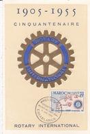 MAROC ,carte Maximum LOT De 5 Cartes Diverses Dont , ROTARY,JOURNEE DU TIMBRE , Etc  (( Lot 481 )) - Marokko (1891-1956)