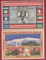 Allemagne 1 Notgeld 25 Pfenning Stadt  Bremen (RARE) Dans L 'état N °4686 - Collections