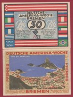 Allemagne 1 Notgeld 50 Pfenning Stadt  Bremen (RARE) Dans L 'état N °4687 - Collections