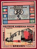 Allemagne 1 Notgeld 50 Pfenning Stadt  Bremen (RARE) Dans L 'état N °4688 - Collections