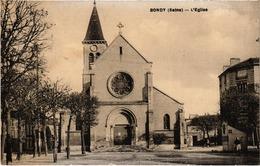 BONDY (93) L'Eglise - Carte Postée Le 20 Mai 1933 - Bondy