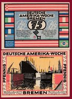 Allemagne 1 Notgeld 75 Pfenning Stadt  Bremen (RARE) Dans L 'état N °4683 - Collections
