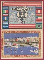Allemagne 1 Notgeld 75 Pfenning Stadt  Bremen (RARE) Dans L 'état N °4684 - Collections