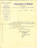 Vieille Lettre De 1931  De L'UNION Agricole De WAREMME . - Documents Historiques