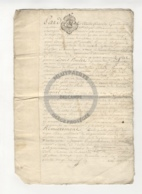 /!\ 1356 - Parchemin - 1749 - Commune De Beaumont Sur Oise (95) - Manoscritti