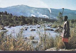 Swaziland PPC Great Usutu River With Bunya Pulp Mills In Background BABANE 1983 Sweden Dag Hammarskjold Peace (2 Scans) - Swasiland
